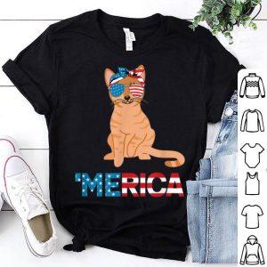 American Flag Australian Mist Cat 4th Of July Cat shirt