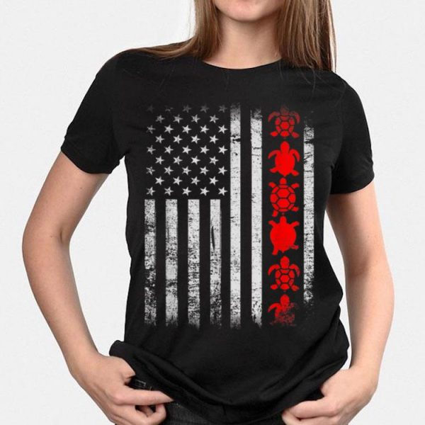 American Flag Proud Patriotic Turtle Owner 4th Of July Pet shirt