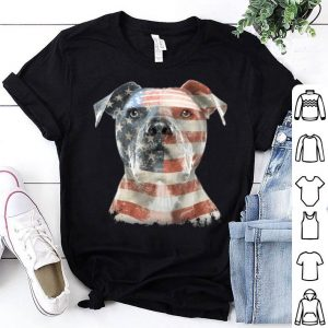 American Pit Bull Terrier Usa Flag Patriotic Dog Gift Shirt