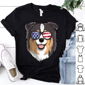 Australian Shepherd Dog Patriotic Usa 4th Of July American shirt