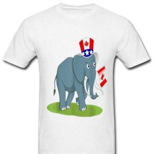 Canada - Maple Leaf Elephant Canadian Flag Shirt