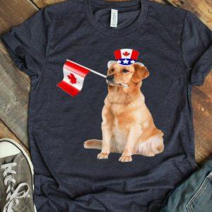 Canada Maple Leaf Golden Retriever Canadian Flag Shirt