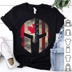 Canadian American Pride - Canada Spartan Helmet shirt