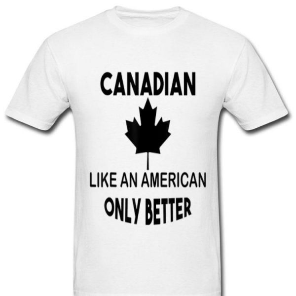 Canadian For Canada Day Maple Leaf Graphic Tee shirt