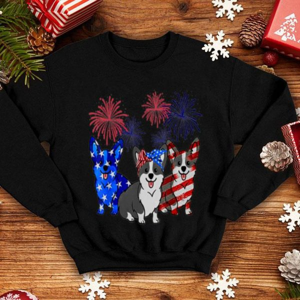 Corgi Flag Colors, Corgi Dog American Flag Happy Independence Day shirt