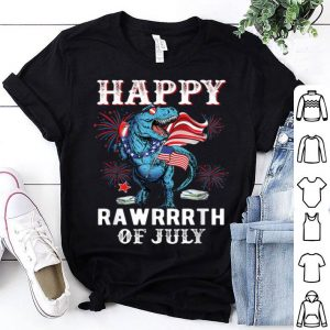 Dinosaur 4th Of July Patriotic T-rex American Flag Usa Independence Day Shirt