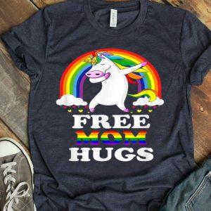 Free Mom Hugs Unicorn LGBT Pride Rainbow Shirt