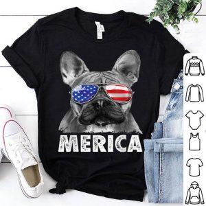 French Bulldog 4th Of July Merica Usa Flag Shirt