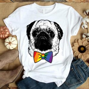 Gay Pride Pug Dog LGBT Sunglasses Shirt