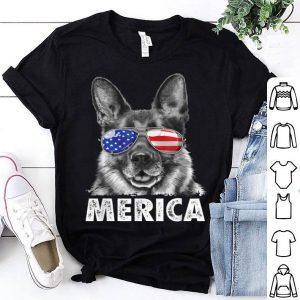 German Shepherd 4th Of July Merica Men Usa Flag Gift Shirt