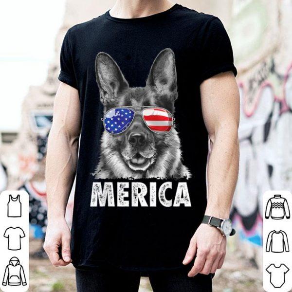 German Shepherd 4th Of July Merica Men Usa Flag Gift Shirt