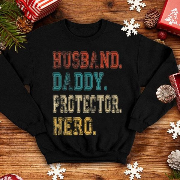Husban Daddy Protector Hero Gift Fathers Day Shirt