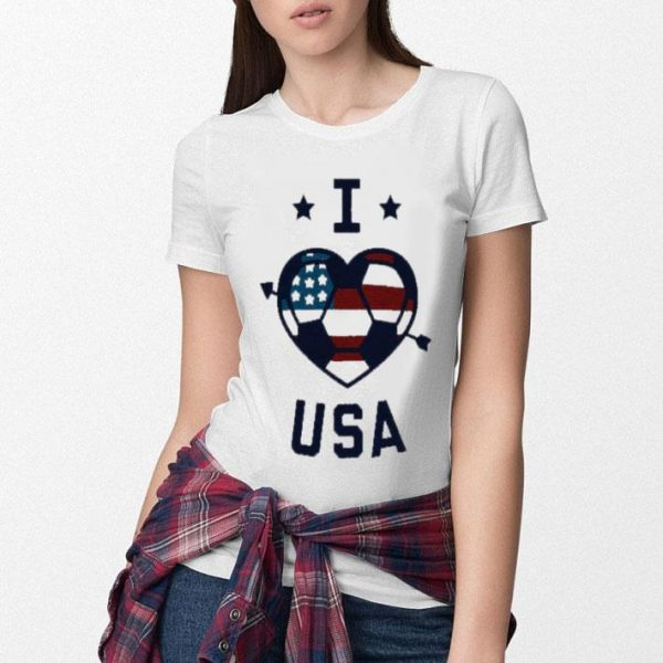 I Love Usa Soccer American Flag Shirt