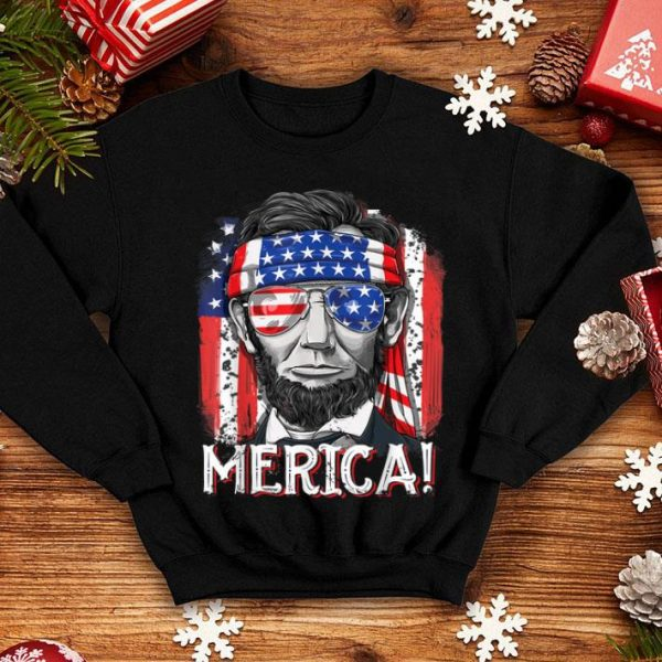 Lincoln 4th Of July Merica American Flag Gifts Shirt