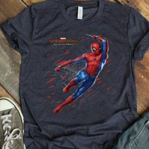 Marvel Spider-man Far From Home Web Swing Shatter Portrait Shirt