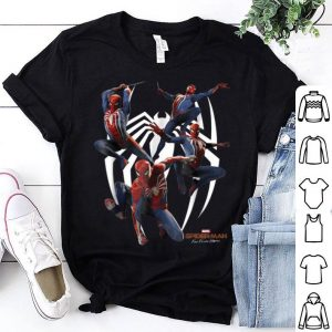 Marvel's Spider-man Game Action Poses Graphic Shirt