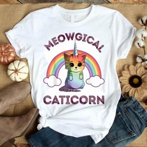 Meowgical Caticorn Cat Unicorn Girls Women Kittycorn Shirt