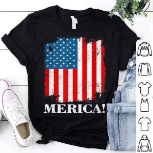 Merica American Flag 4th of July shirt