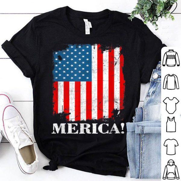 Merica American Flag 4th of July shirt