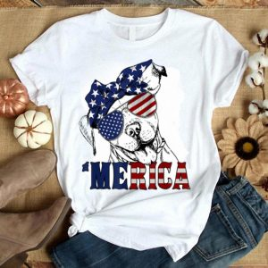 Merica American Flag Pitbull Funny 4th Of July Gift Shirt