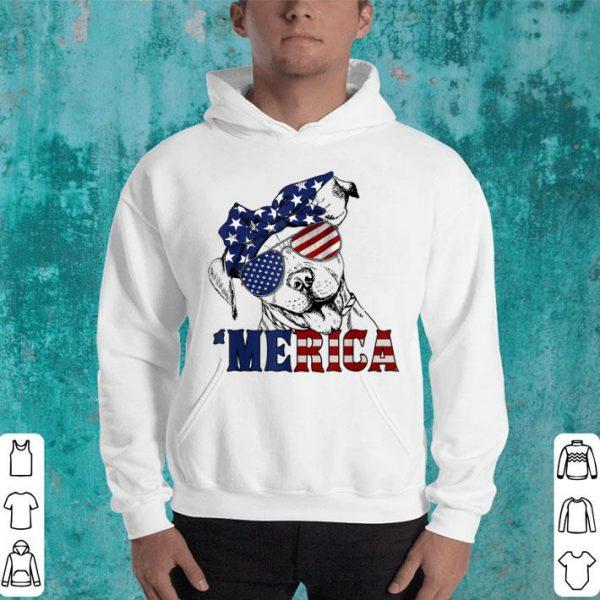 Merica American Flag Pitbull Funny 4th Of July Gift Shirt