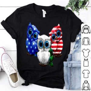 Owls American flag 4th of July Owl Independence day owl USA shirt