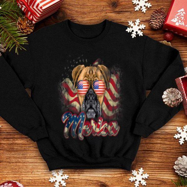Patriotic Boxer American Flag 'merica 4th Of July Dog Shirt