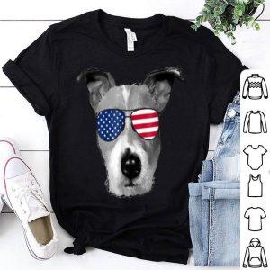 Patriotic Jack Russell Terrier Dog Merica 4th Of Jul Shirt