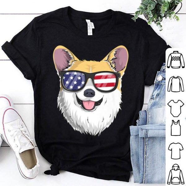 Pembroke Welsh Corgi Dog Patriotic USA 4th of July American shirt