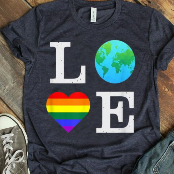 Pride LGBTQ Love Earth Science March Climate Change shirt