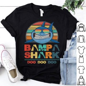 Retro Vintage Bampa Sharks Happy Father Day shirt