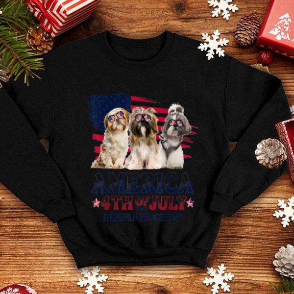 Shih Tzu America 4th Of July Independence Day shirt