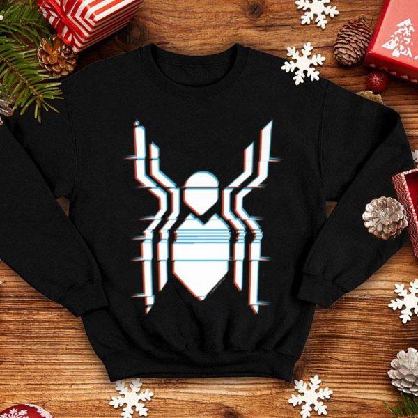 Spider Logo Spider-man Far From Home Glitch Chest Shirt