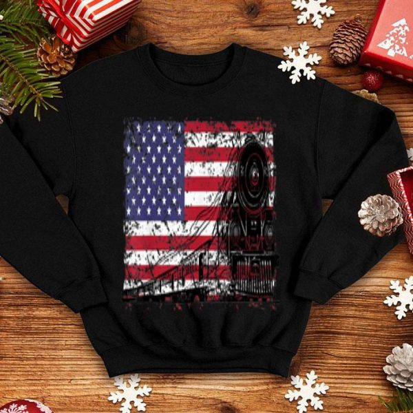 Steam Engine American Flag And Steam shirt