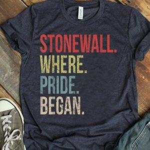 Vintage Stonewall Where Pride Began LGBTQ Rights Gay Pride shirt