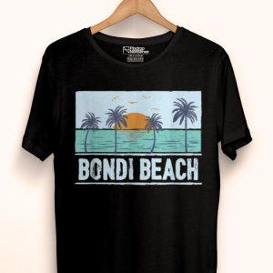 Retro Bondi Beach Australia Tropical Sunset Beach Vacation shirt