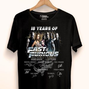 18 Years Of Fast And Furious Signature shirt