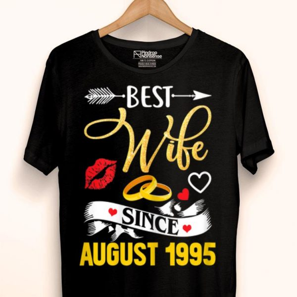 24th Wedding Anniversary Best Wife Since 1995 shirt