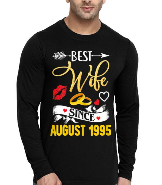 24th Wedding Anniversary Best Wife Since 1995 shirt