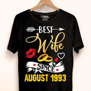 26th Wedding Anniversary Best Wife Since 1993 shirt