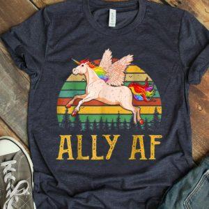 Ally AF Unicorn Gay Pride Month LGBT Rainbow Unicorn shirt