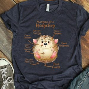 Anatomy Of A Hedgeog Beady Peepers Grub Grippers shirt
