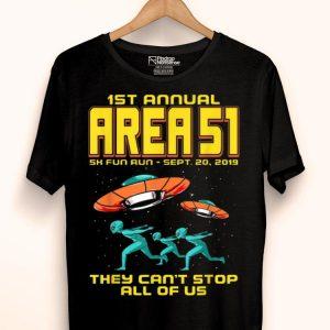 Annual Area 51 5k Fun Run Alien Raid shirt