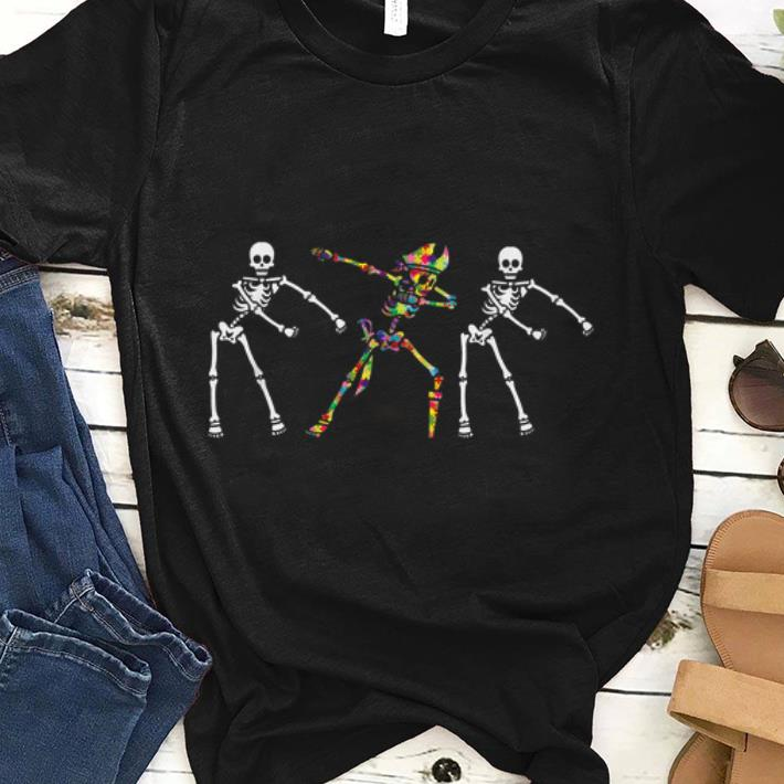 Autism Skeleton Flossing Dabbing Bone Pirate shirt 1 - Autism Skeleton Flossing Dabbing Bone Pirate shirt