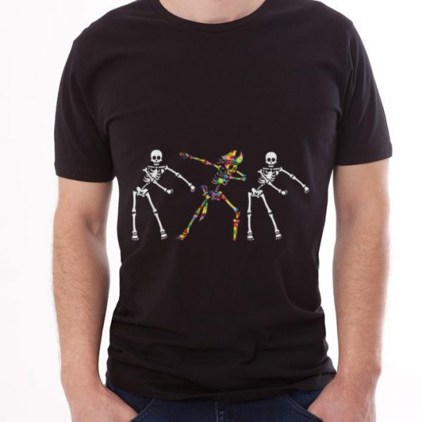Autism Skeleton Flossing Dabbing Bone Pirate shirt