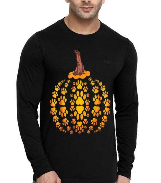 Cat Dog Paw Hockey Halloween Pumpkin shirt
