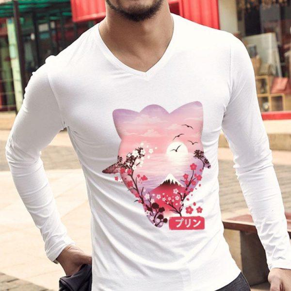 Charming Sunset Japanese Fuji And Sakura Flower shirt