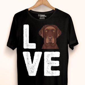Chocolate Labrador I Love My Chocolate Lab shirt