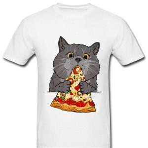 Cute Cat Like Pizza With Cheese Cats Lovers shirt