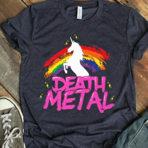 Death Metal Unicorn Rainbow Pride Heavy Metal shirt